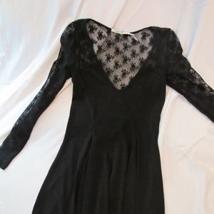 Urban Outfitter's Long Sleeved Black Lace Dress